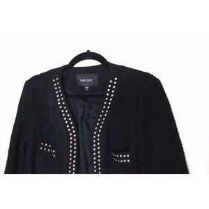 Karen Kane Jackets & Coats - Karen Kane Silver Studded Tweed Cropped Jacket